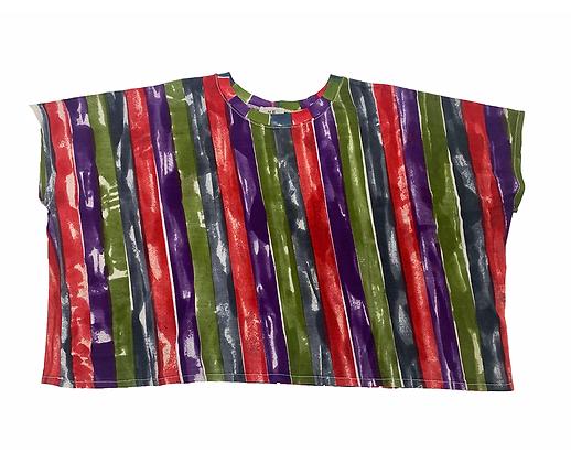 Stripes Wide T Grape