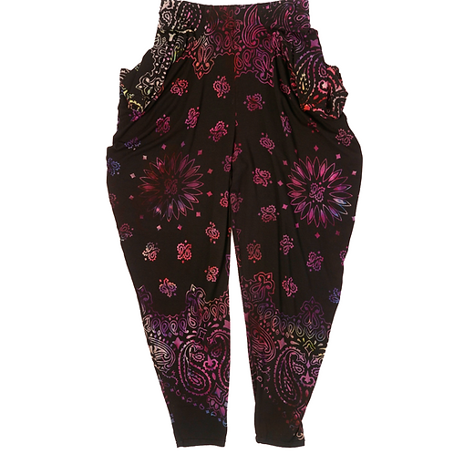 Drape Legging Bandana Black Grape