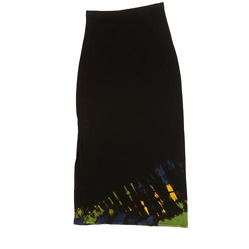 Tube Skirt Hem Fold Blue