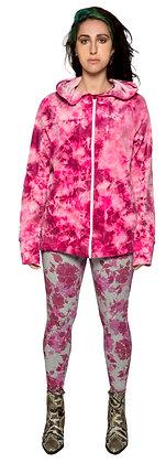 Velour Shaped Hoodie Pink Marble