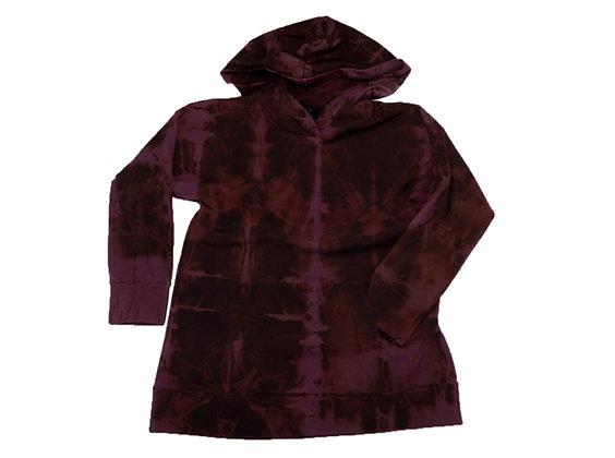 Unisex Big Hoodie Fold Black/Grape
