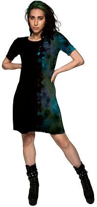 S/S Rib T Dress Side Blue