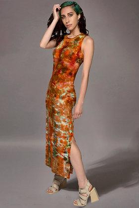 Rib Lean Dress Fold Dice Rust