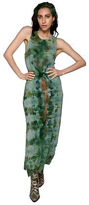 Rib Lean Dress Fold Heather Green