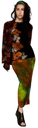Vegan Cashmere Shawl Cardigan Petal Rust