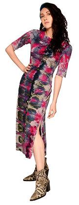 S/S Midi Pinch Dress Fold Pink
