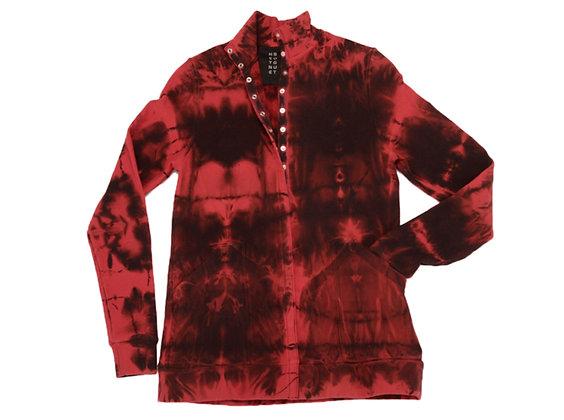 Snap Mock Jacket Fold Red