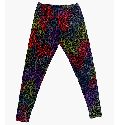 Leopard Legging Red/Grape