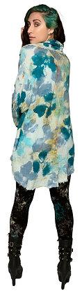 Linen Drape Cardigan Petal Blue