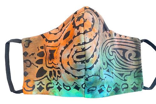Bandana Mask Aqua/Pumpkin
