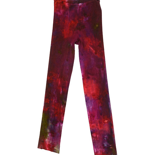 Rib Stovepipe Pants Grape