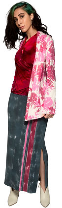 French Terry Shawl Cardigan Rose Pink