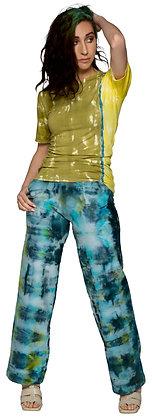 Fleece Stovepipe Pant Fold Dice Blue/Yel