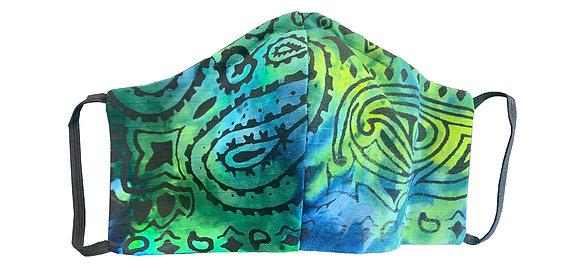 Bandana Mask Blue/Lime