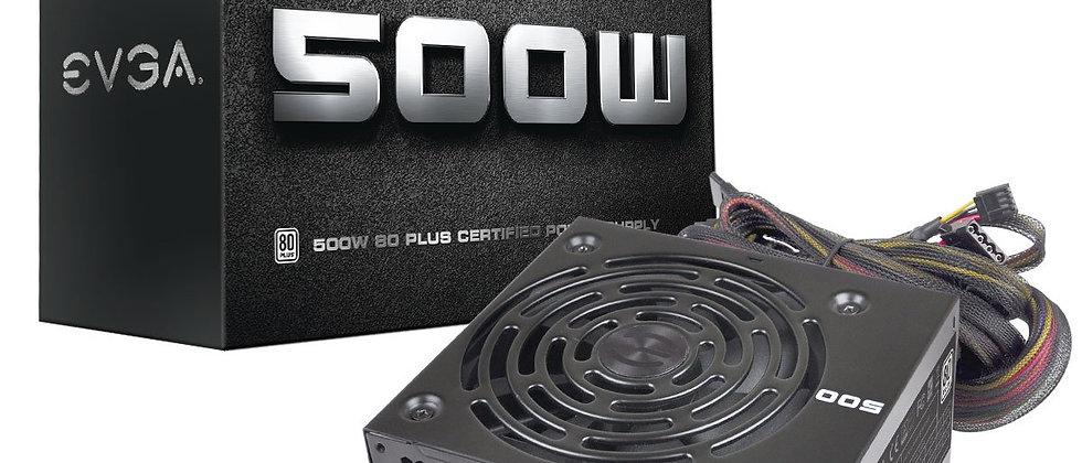 80+ EVGA 500W WHITE Power Supply