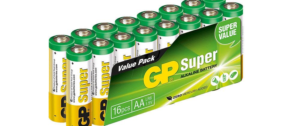 GP Alkaline Battery Pack 16pcs