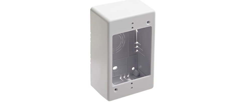 Netsys Single Gang Junction Box Flush Mount 2 Inch Depth