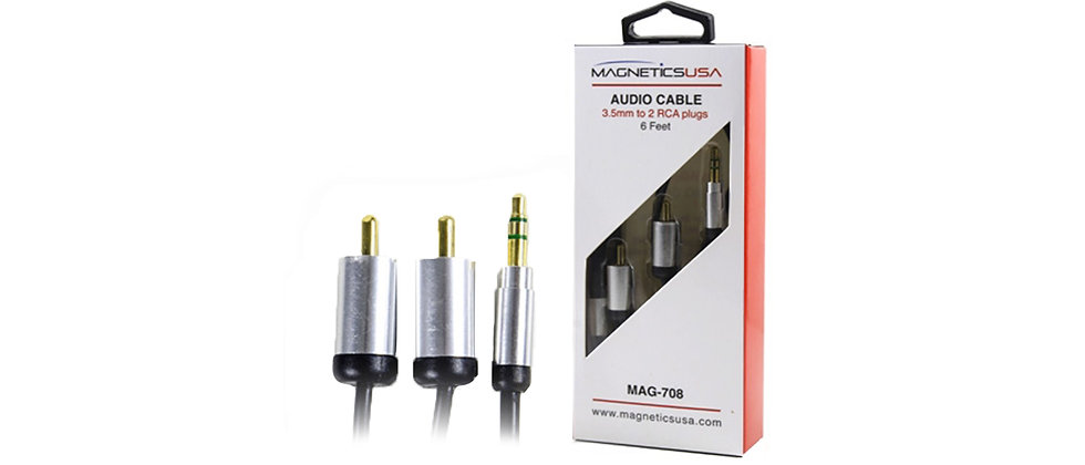 Magentics USA MAG-708 2 RCA to 3.5MM