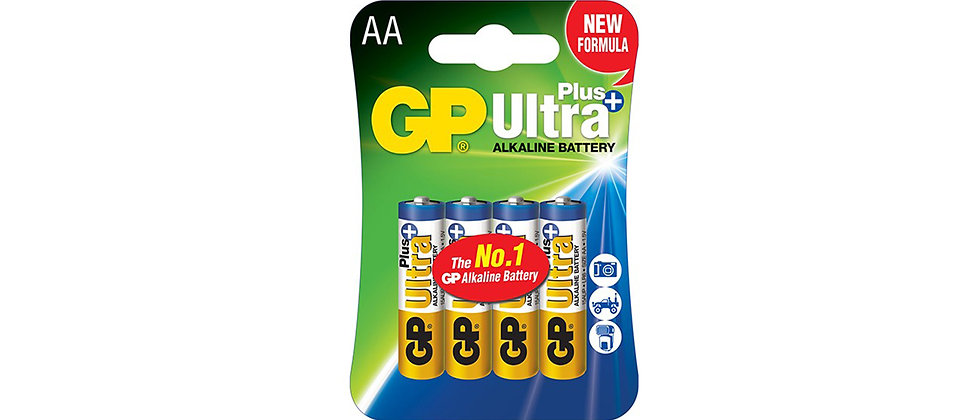 GP Ultra Plus Alkaline Battery 4 Pack