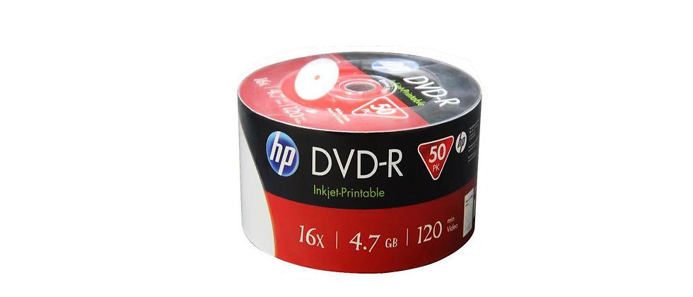 HP DVD-R Inkjet Printable (50 Pack)