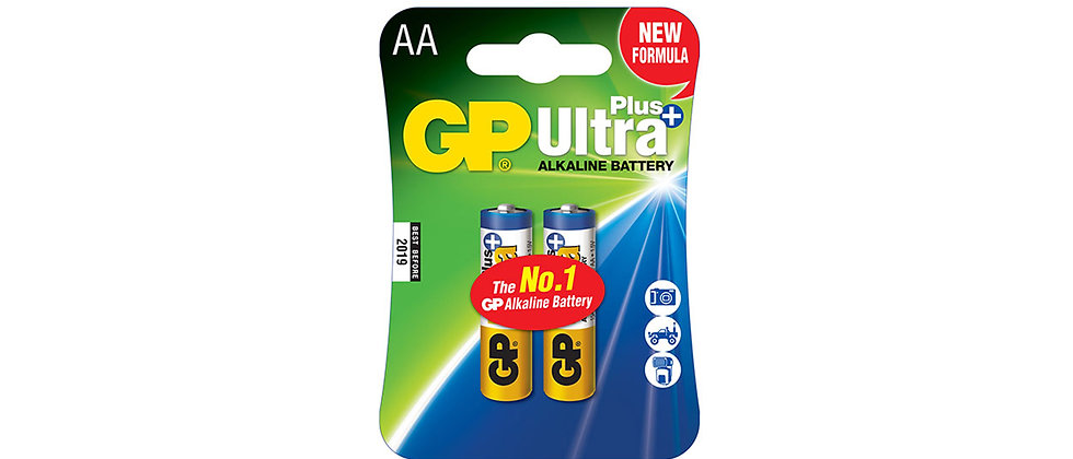 GP Ultra Plus Alkaline Battery 2 Pack