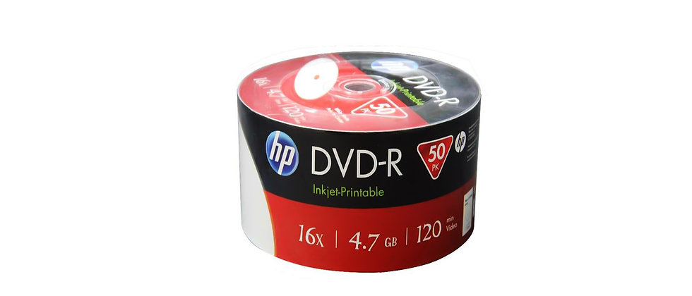 HP DVD-R Inkjet Printable (50 Pack)