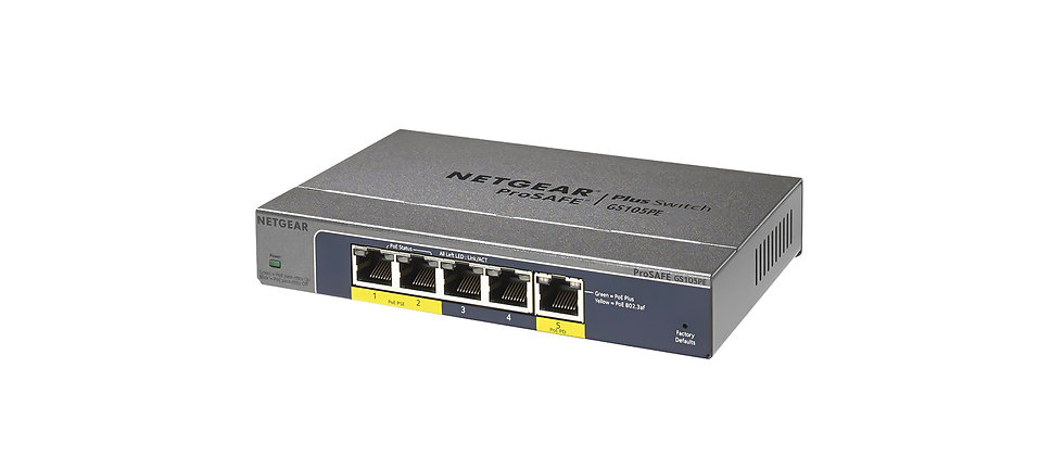 Netgear ProSafe 5 Port POE Gigabit Switch GS105PE