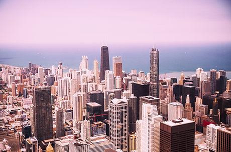 Horizonte de Chicago moderna
