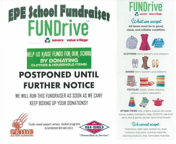 Our fundraiser is postponed!