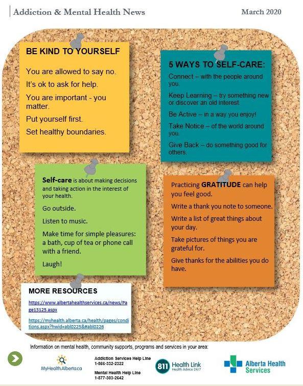 Self-care information