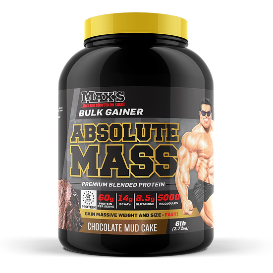 MAX'S ABSOLUTE MASS 2.72KG.