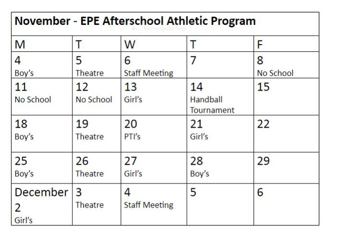 After School Athletic Program