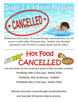 Hot Food and Swim Program Cancelled