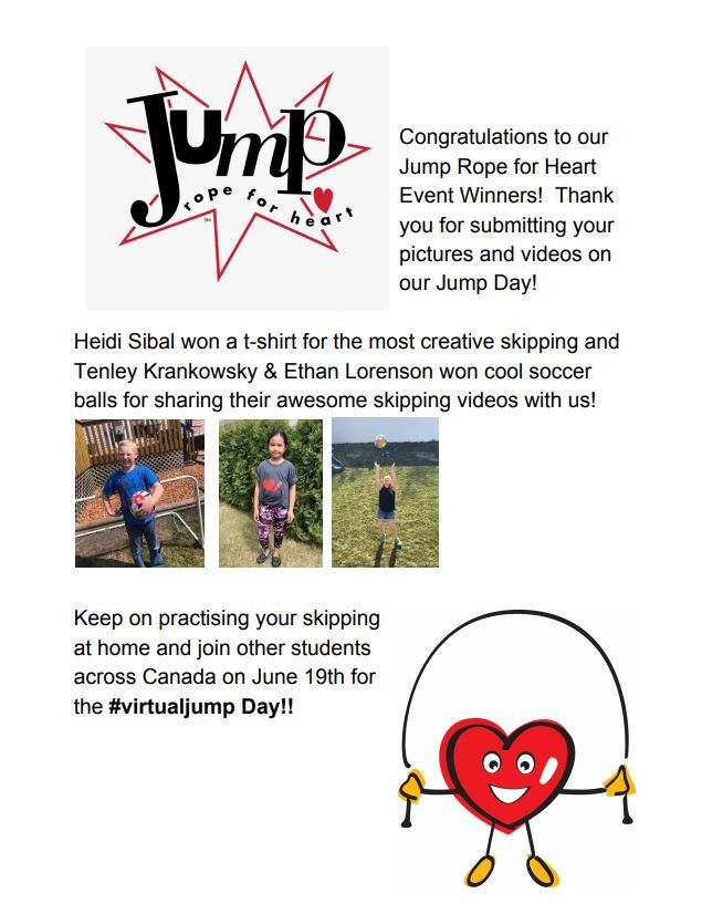 Virtual Jump Rope for Heart Winners