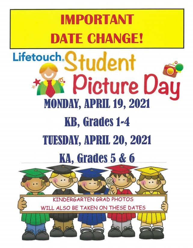 Date Change - Lifetouch Student Picture Day