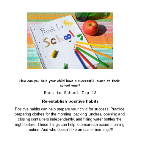 Back to School Tip #3
