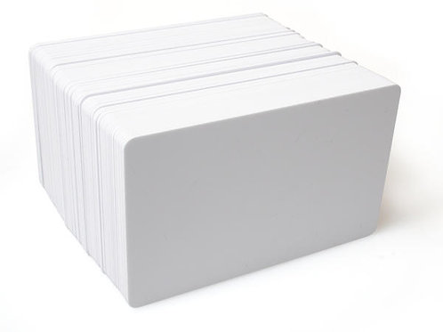 DYESTAR BLANK WHITE PLASTIC CARDS WITH PET CORE (PACK OF 100)