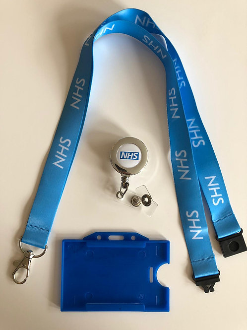 NHS STAFF LANYARDS WITH DOUBLE BREAKAWAY & YOYO & HOLDER(PACK OF 1)