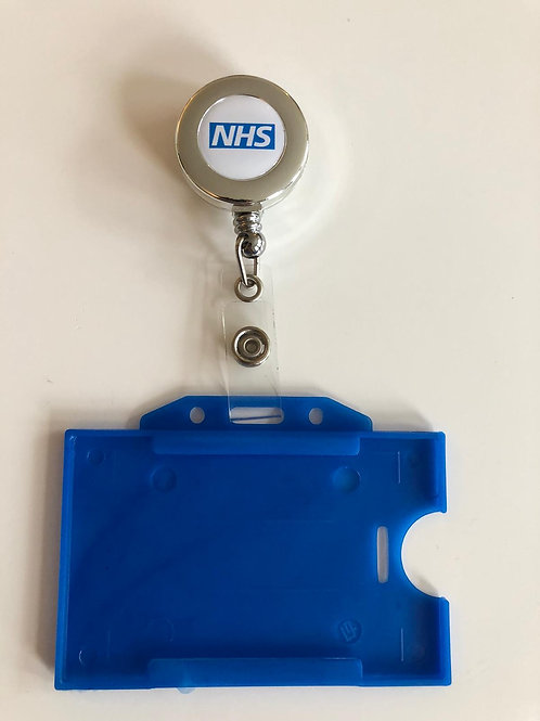 NHS ID Card Holder & NHS Chrome Yo-yo Nhs Print PACK OF 1