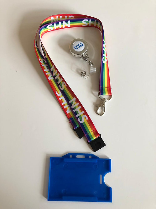 NHS STAFF LANYARDS WITH DOUBLE BREAKAWAY & YOYO & HOLDER (PACK OF 5)