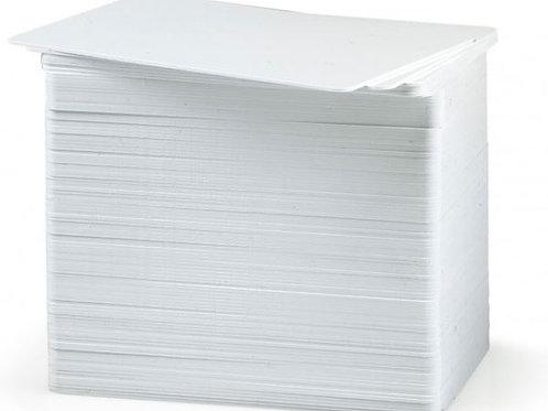 ZEBRA PREMIER 30 MIL BLANK WHITE PLASTIC CARDS (PACK OF 500)