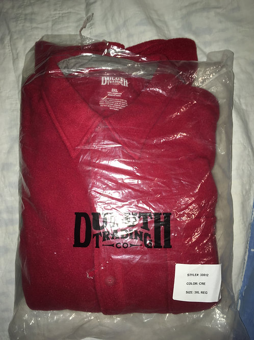 Duluth Trading Co. Red Fleece Jacket