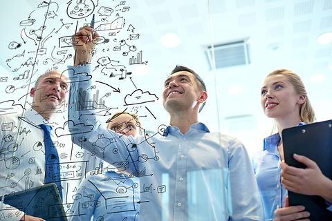 business, people, teamwork and planning