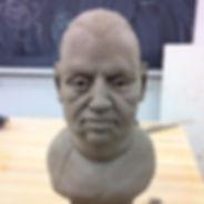 Estudio de busto, barro #figure #escultu