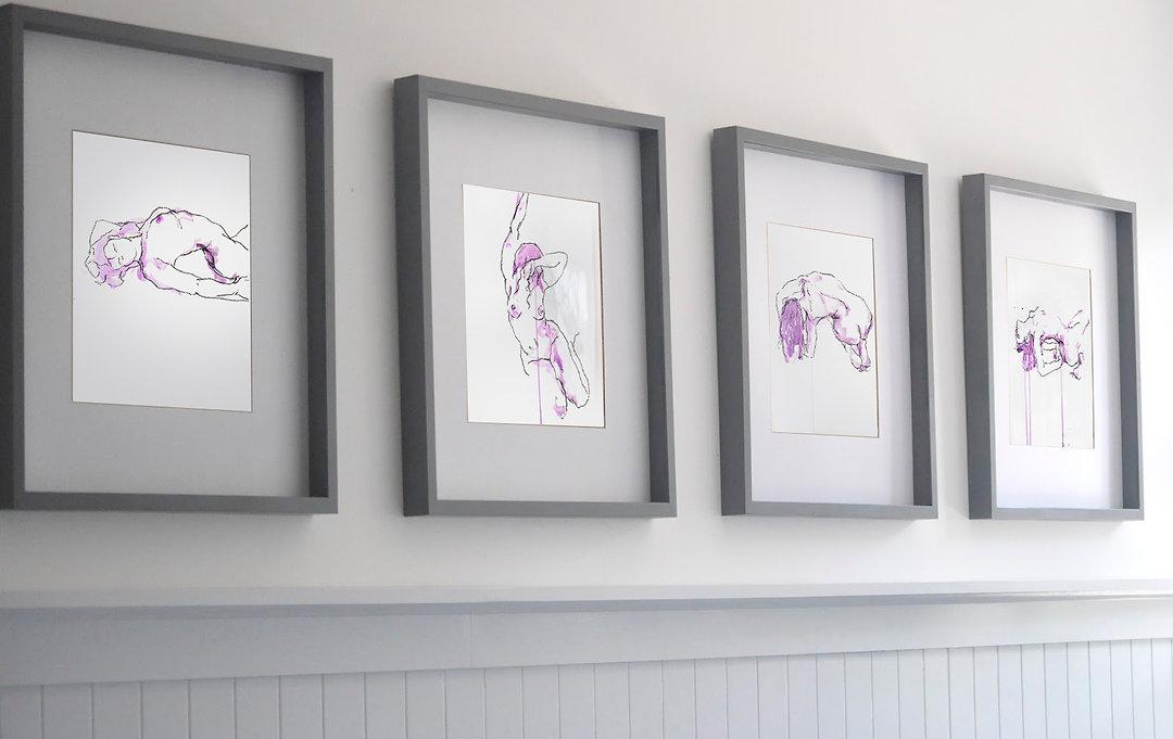 Purple Patch Series Framed in situ.jpg