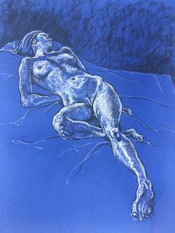 Reclining Blue