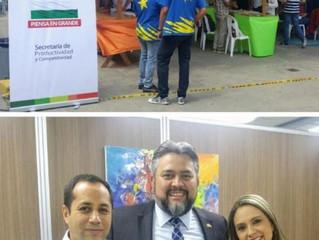 """Productiva visita a la """"Feria Emprende, Piensa en Grande 2018"""", y reunión con directora de proyectos"""