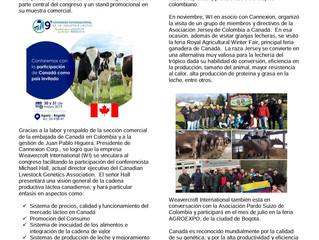 CANADA fortalece su relación con los productores de leche y su industria en COLOMBIA – 2018.