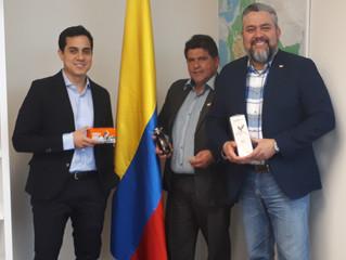 Excelente reunión con el Embajador de Colombia en Canadá, Sr. Federico Hoyos Salazar.  Abril de 2019