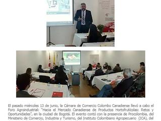 Iniciamos actividades en el Comité Agroindustrial de la Cámara de Comercio Colombo Canadiense.